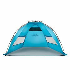 Pacific Breeze EasyUp Beach Tent Outdoor Canopy Sun Shelter Pop Up Blue - Refurb