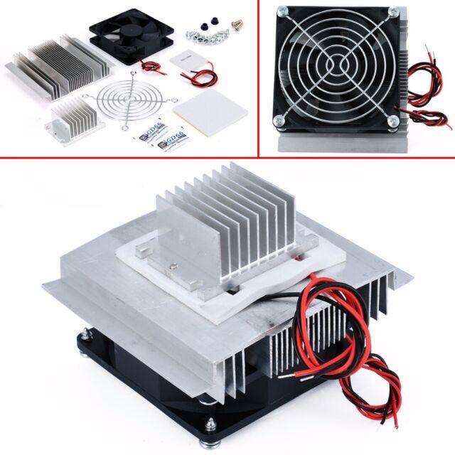 12V Thermoelectric Peltier Refrigeration Cooling Cooler Fan System Heatsink Set