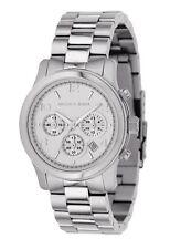 New Michael Kors Runway Silver Stainless Steel Chronograph MK5076 Women's Watch