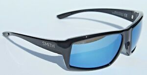 e9a760a3ae470 Image is loading SMITH-OPTICS-Challis-POLARIZED-Sunglasses -Black-Blue-Mirror-