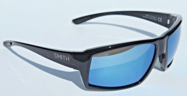 9caf5c99b3 SMITH OPTICS Challis POLARIZED Sunglasses Black Blue Mirror Techlite NEW   209