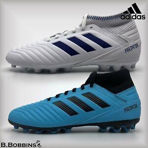 Adidas-Predator-19-3-AG-blanc-Chaussures-De-Football-Taille-UK-10-10-5-Infant-Boys
