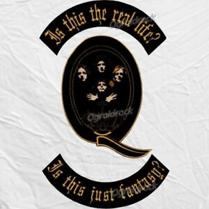 Details about Set Queen Banner Embroidered Big Patches Bohemian Rhapsody  Song Freddie Mercury