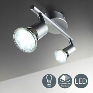 LED Deckenleuchte GU10 Spot Strahler Deckenlampe Wandlampe Lampe Halogen flammig
