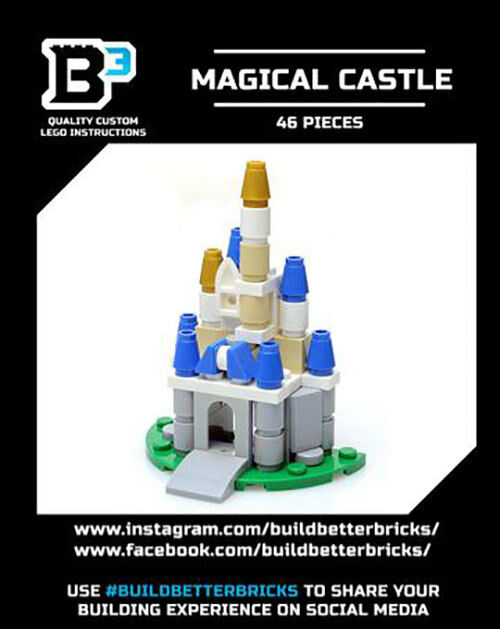 Custom Lego Micro Disney Castle Includes Parts And Instructions Ebay