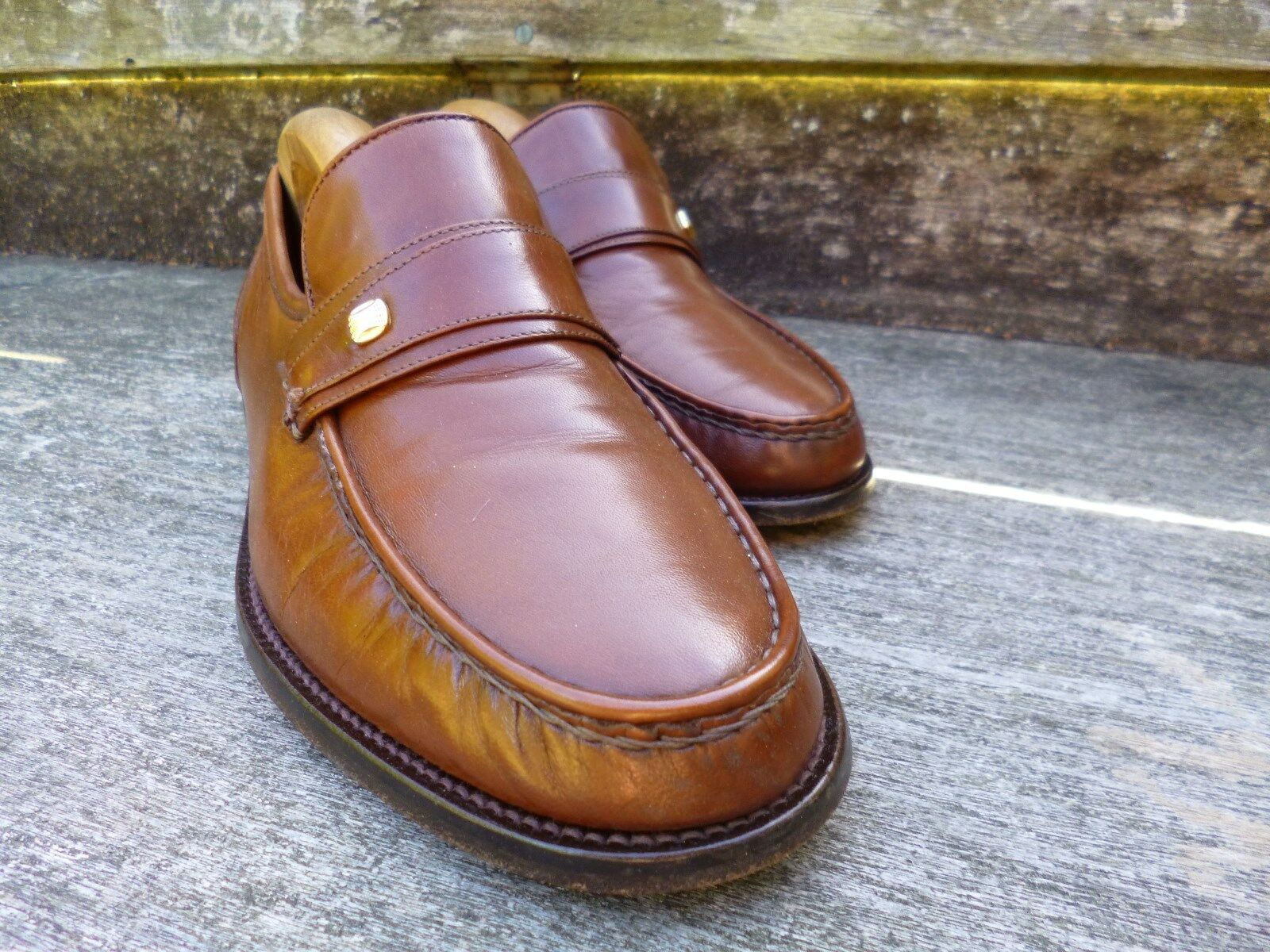 CHEANEY / CHURCH  LOAFERS – BROWN / TAN - UK 7 – EXCELLENT  CONDITION