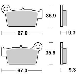 CoopéRative Betamotor Rr Enduro (mot.beta) 400 2010-2014 Plaquettes De Frein Sbs 790 Si (sin