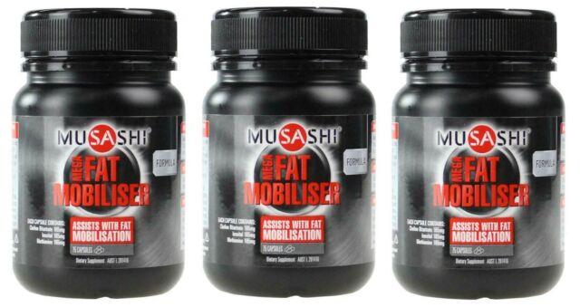 3 x MUSASHI PK75 CAPSULES MEGA FAT MOBILISER 100% Brand New