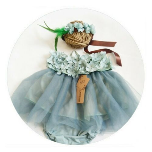 Newborn Photography Props Girls Boys Outfit Girl Hat and Romper Set Baby Suits