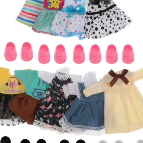 14pcs//set 1:12 Fashion Dolls Clothings Outfits for 6/'/' BJD Doll Dress Up