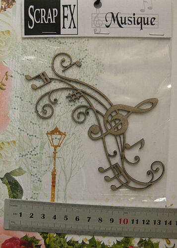 CHIPBOARD DieCuts MUSIC Flourish /& Frame Embellishments 2 StyleChoice Scrap FX T