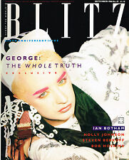 BLITZ #45 09/1986 BOY GEORGE Prince STEVEN BERKOFF Dieter Meier TRACEY THORN vgc