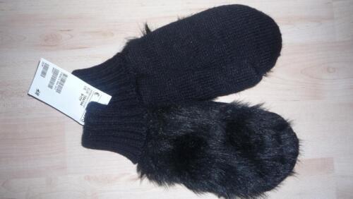 H/&M Handschuhe  Fäustlinge Gr 98-170 weiß oder schwarz NEU