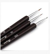 3PCS Nail Art Pen Dotting Painting Drawing UV Gel Liner Polish Brush Tool Set
