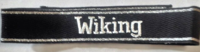 German Army WAFFEN ELITE OFFICERS WIKING CUFF TITLE