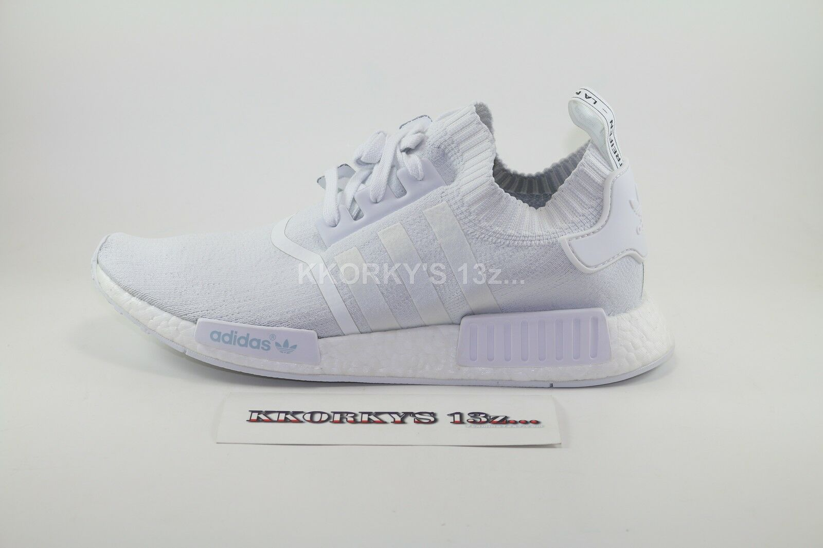 ADIDAS NMD R1 PRIMEKNIT WHITE OUT  12.5 US 12  3
