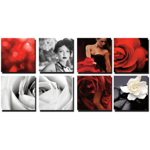 BEAUTY 8 Pc Beauty Salon Spa Massage Decal Decoration 24 x 24 Canvas Mural CM-SB