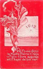 """X513) WW ITALO TURCA AUGURALE 1912 """"...LA MADRE PATRIA TI RECA O FIGLIO..."""""""