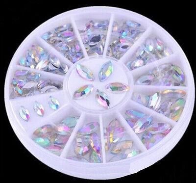 Modish Design Nail Art Tips Manicure Crystal Glitter Rhinestone Decoration HFCA