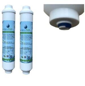 2 X En Ligne Réfrigérateur Filtres à Eau Compatible Avec Samsung, Daewoo, Lg Etc-afficher Le Titre D'origine Vente D'éTé SpéCiale