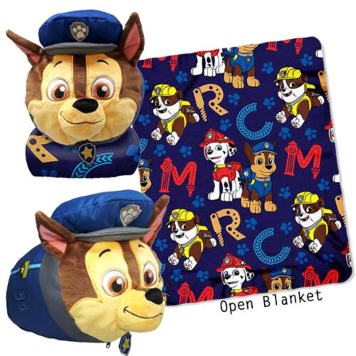 Paw Patrol Rescue ABC Mush/' Um Zip Pillow and Throw Set NEW with Tags