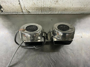 "MARINE BOAT STAINLESS STEEL COMPACT ELECTRIC HORN 12V DIAMETER 3/"" DEPTH 2/"""