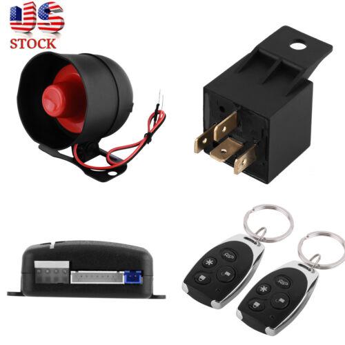 1-Way Car Buzzer Burglar Alarm Keyless Start Entry Siren Security System Remote