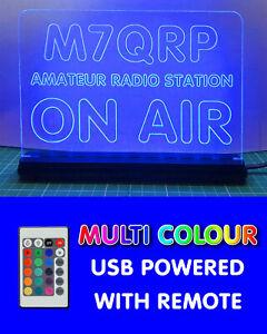 USB-MULTI-COLOUR-RGB-LED-SHACK-SIGN-HAM-AMATEUR-RADIO-CALL-SIGN-ON-AIR-MIC-LIVE