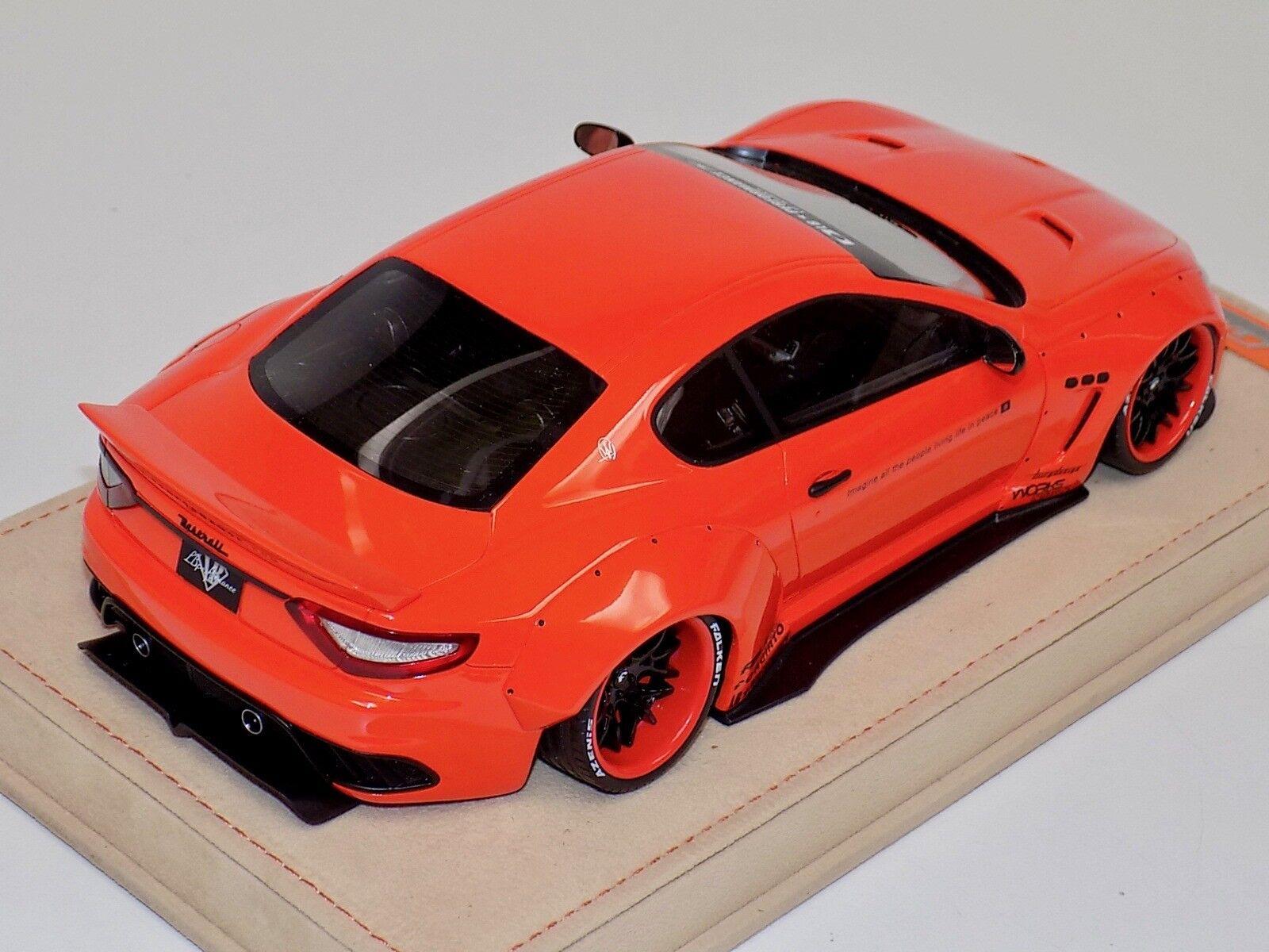 1 18 AB Models Models Models Maserati Granturismo Liberty walk orange, orange Whls Alcantara B 025f93