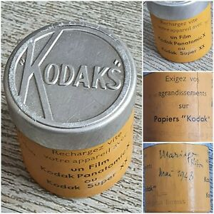 Boite Carton et aluminium kodak pellicule film/photo années 1940 kodaks