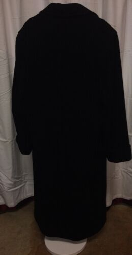 10 Blend Overcoat Size Breasted Black Saxton Double Hall Women Cashmere Long wvHI4xqI