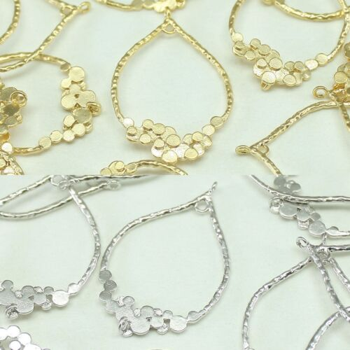 Tear drop Metal Beads Pendants Gold Silver for Jewelry Making Supplies #249
