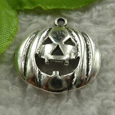 free ship 136 pieces tibet silver pumpkin charms 25x24mm #3994