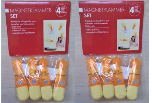 Magnetklammer Kühlschrankmagnete Set Anheften von Notizzetteln Bilder Magnet NEU