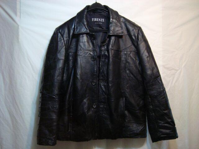 222a36c49 Men's Large Black Patchwork Leather Jacket