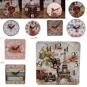 Vintage-Rustic-Wooden-Wall-Clock-Antique-Shabby-Chic-Table-Decor-Clocks-Stickers