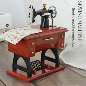 Vintage-Music-Box-Mini-Sewing-Machine-Style-Birthday-Gift-Table-Decor-UK-Local