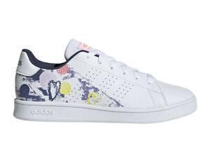 Adidas-Advantage-Scarpe-Donna-Ragazza-Bianca-con-Stampa-Stile-Casual-Sneaker
