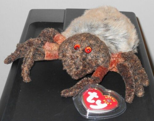 Ty Beanie Baby ~ HAIRY the Spider / Tarantula (6 Inch) NEW MWMT