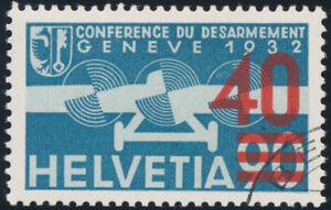 SCHWEIZ-1936-MiNr-293-a-sauber-gestempelt-Attest-Marchand-Mi-800