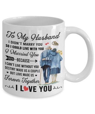 To My Husband Coffee Mug Gag Gifts From Wife I Love You Cup Forever Together Ebay