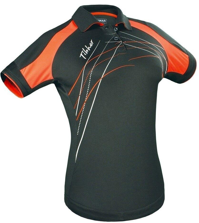 Tibhar TABLE femme tricot Poignée - Noir/ORANGE TENNIS DE TABLE Tibhar Haut badminton cf297e