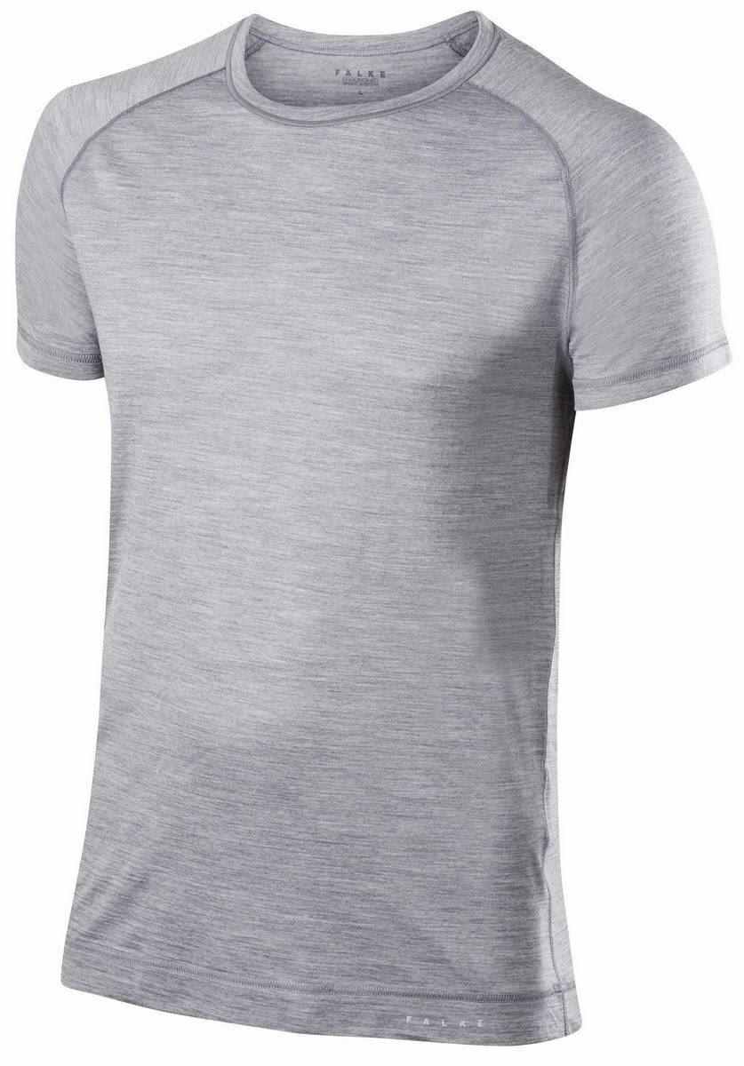 Falke Mens Silk Wool Short Sleeve Shirt - Heather grau