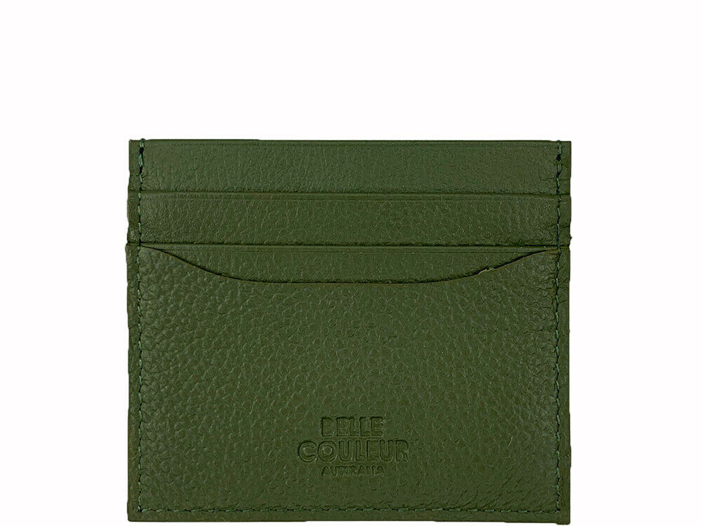 Luca - Olive Green Leather Card Wallet