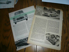 1958 Sports Car Illustrated Ford Anglia & 1960 Autocar Road Test Ford Perfect