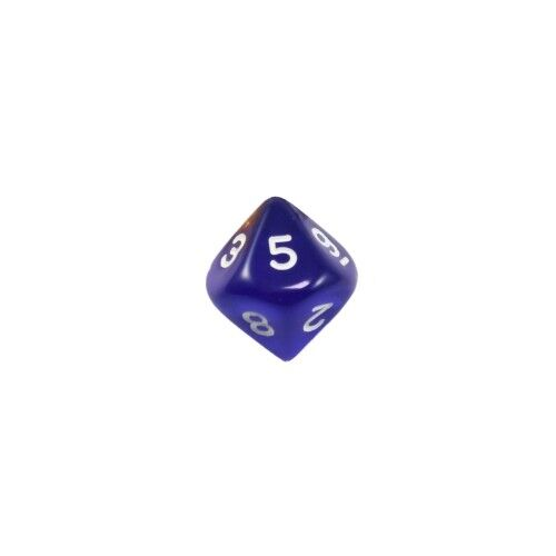 10-seitiger Dice - Trapezoids - W10 - 0-9 - Transparent - bluee