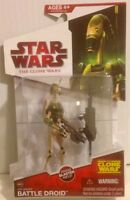 """Star Wars From The Clone Wars of BATTLE DROID Action Figure  3.75"""" Tall"""