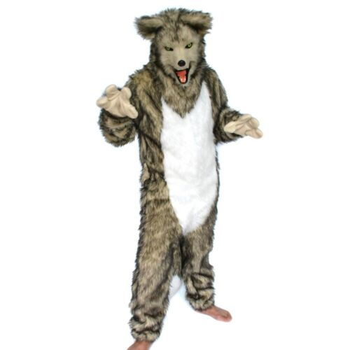 Can Move Mouth Wolf Mascot Costume Fursuit Cosplay Animal Outfit Halloween Party