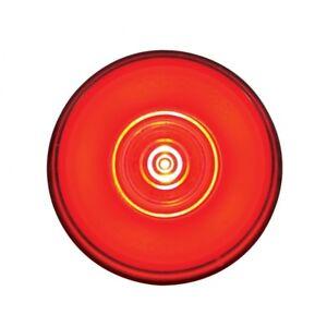 "Red Halo Glo 2"" Round 6 LED Truck Trailer Marker Clearance Light Kit / Grommet"