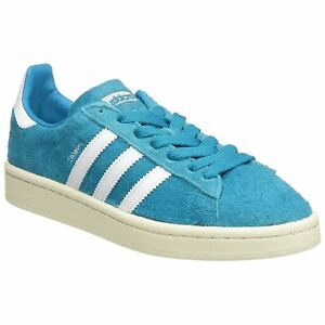 cheaper 33407 9c125 Image is loading Adidas-Campus-Bold-Aqua-Footwear-White-Mens-Suede-